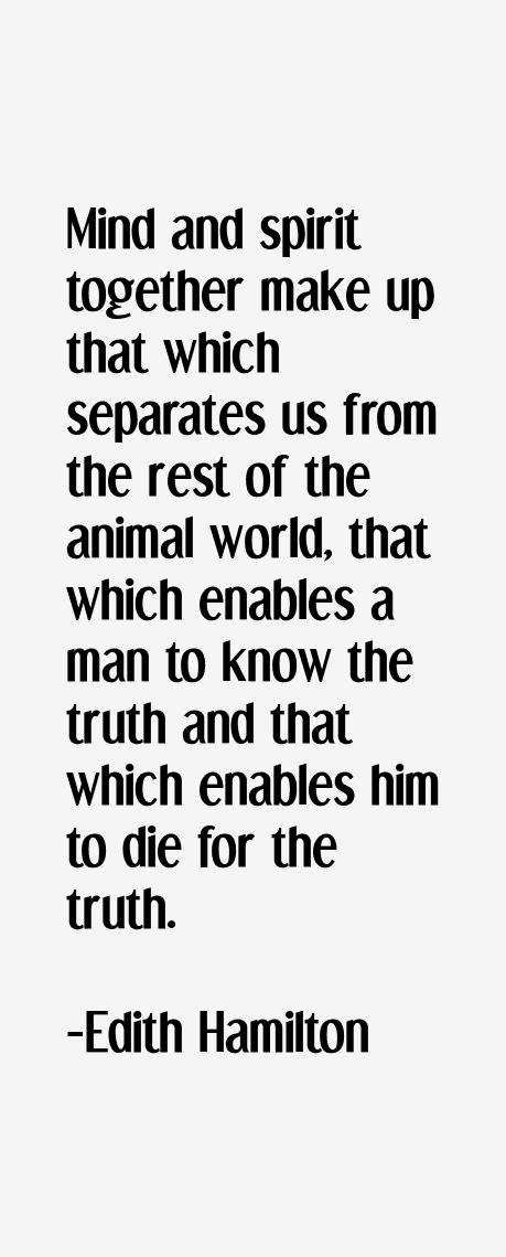 Edith Hamilton Quotes