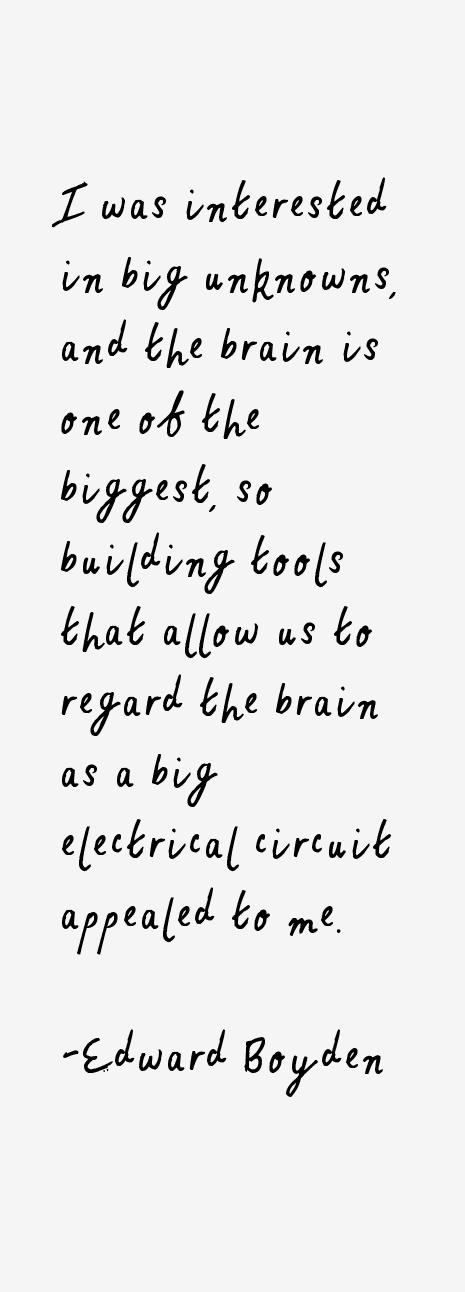 Edward Boyden Quotes