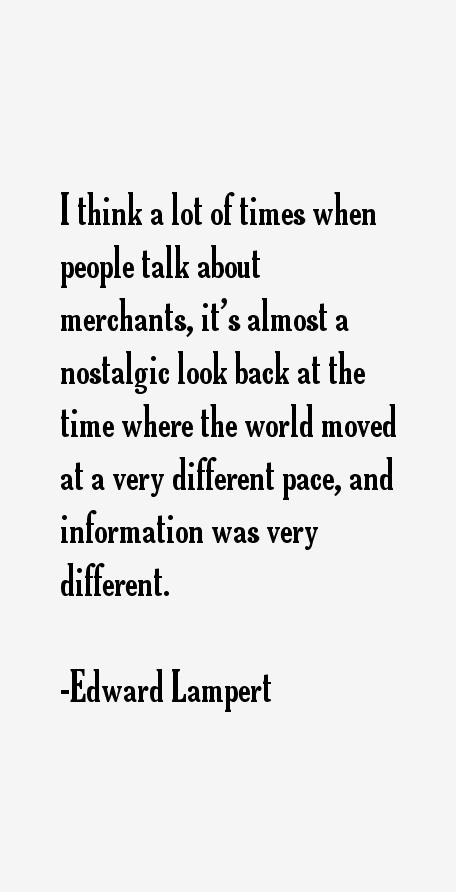 Edward Lampert Quotes