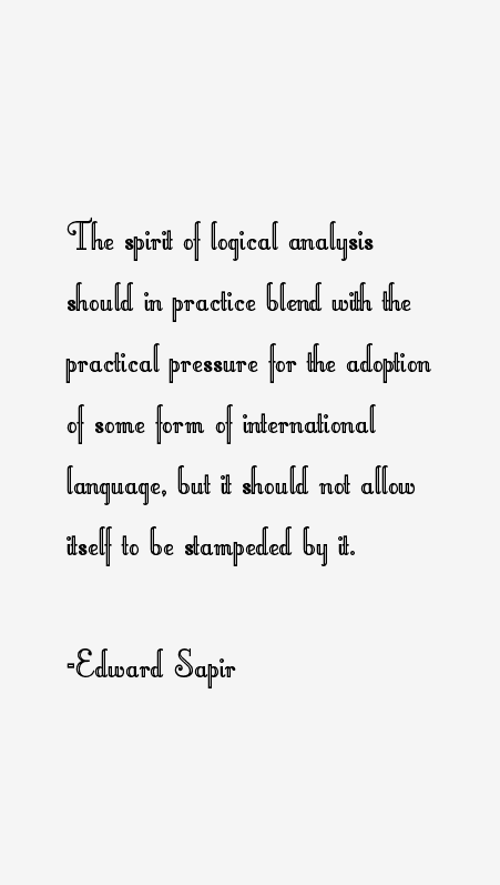Edward Sapir Quotes