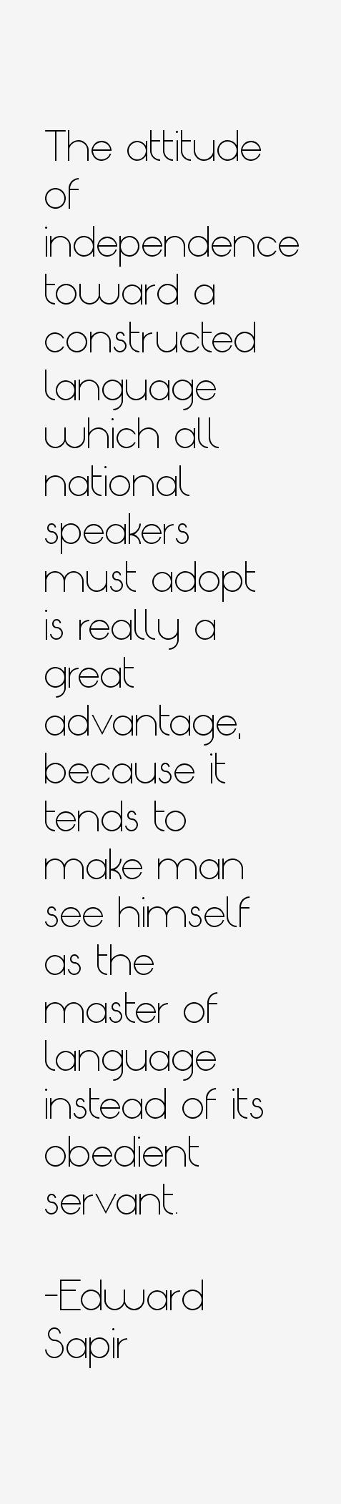 Edward Sapir Quotes