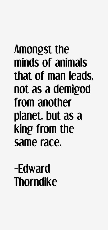 Edward Thorndike Quotes
