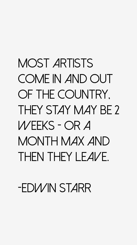 Edwin Starr Quotes
