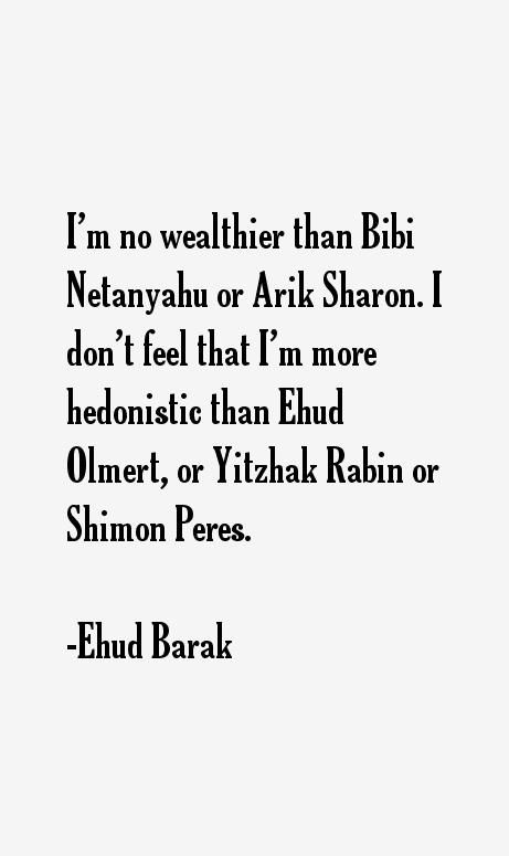Ehud Barak Quotes