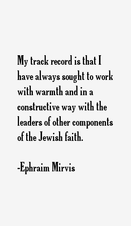 Ephraim Mirvis Quotes