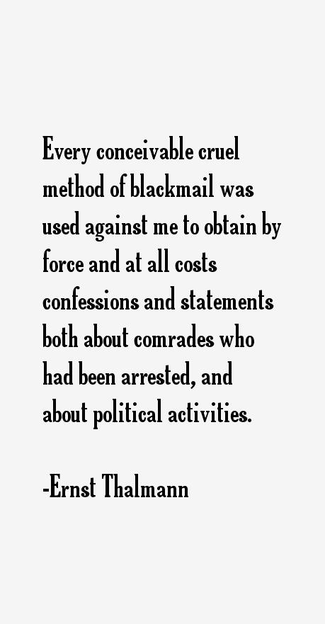 Ernst Thalmann Quotes