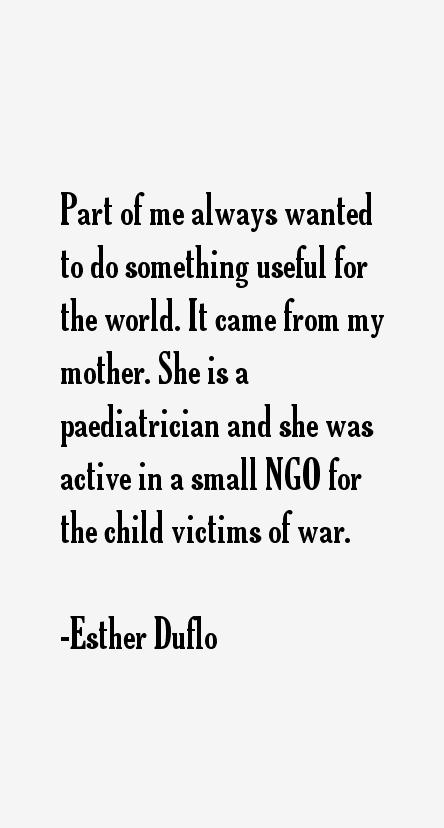 Esther Duflo Quotes