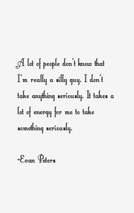 Evan Peters Quotes