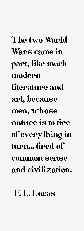 F. L. Lucas Quotes