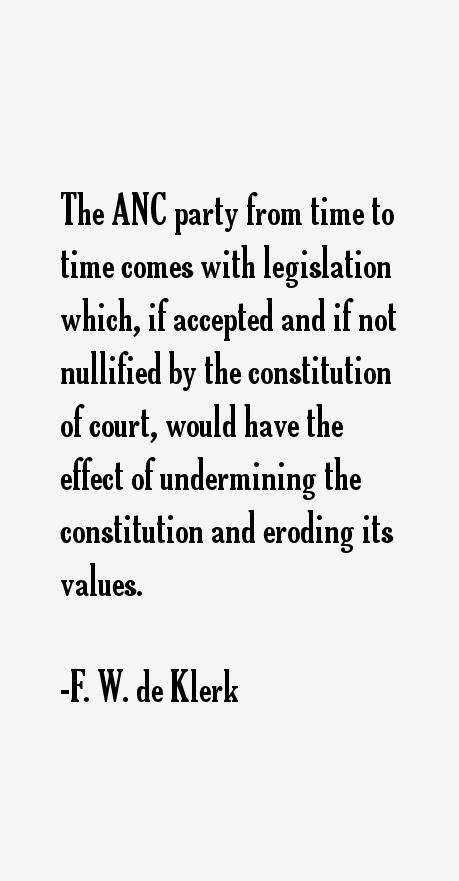 F. W. de Klerk Quotes