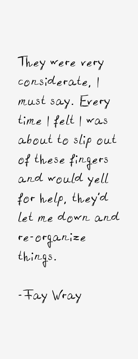 Fay Wray Quotes