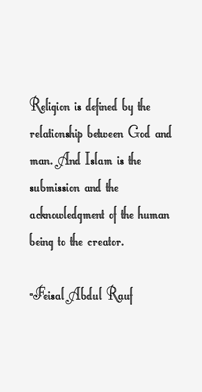 Feisal Abdul Rauf Quotes