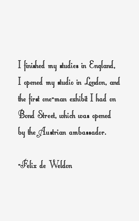 Felix de Weldon Quotes