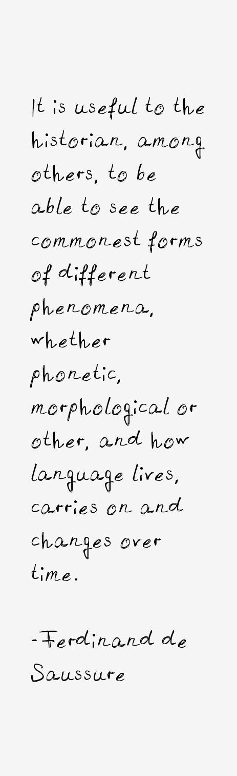 Ferdinand de Saussure Quotes