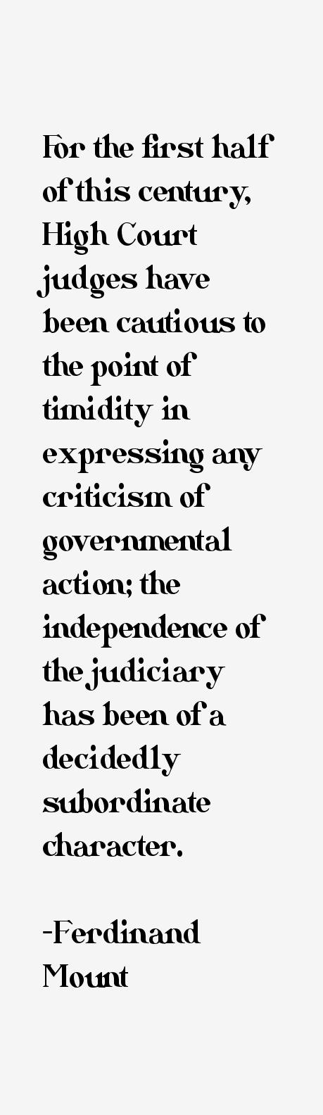 Ferdinand Mount Quotes