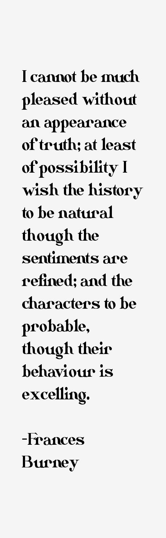 Frances Burney Quotes