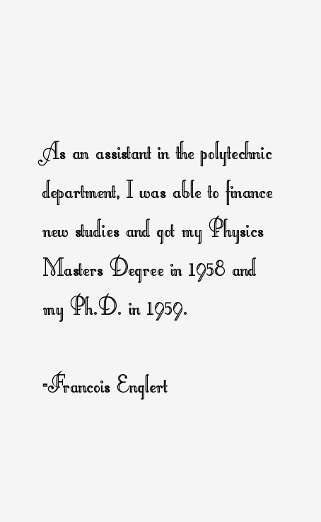 Francois Englert Quotes