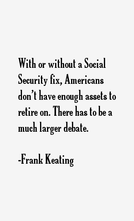 Frank Keating Quotes
