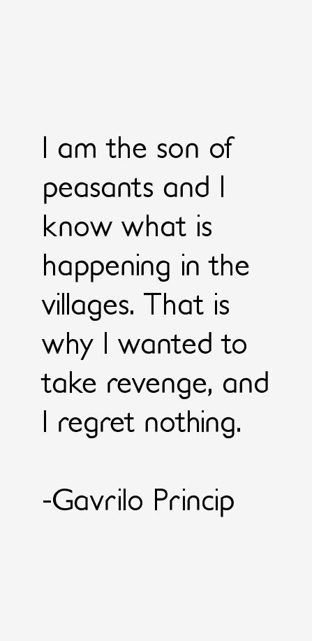 Gavrilo Princip Quotes