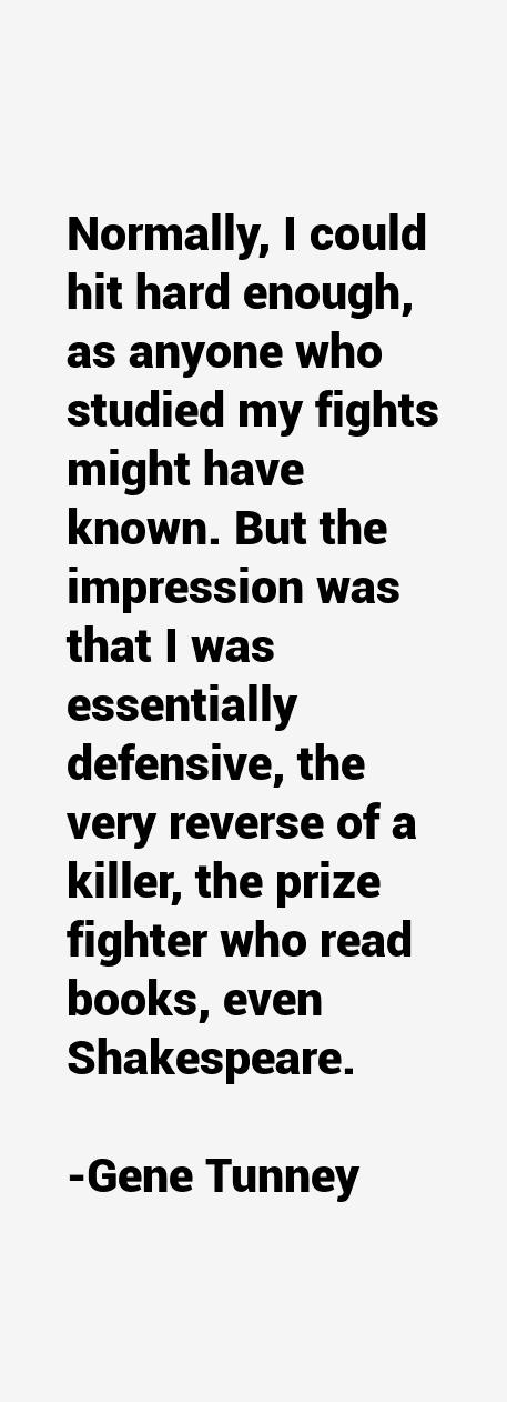 Gene Tunney Quotes