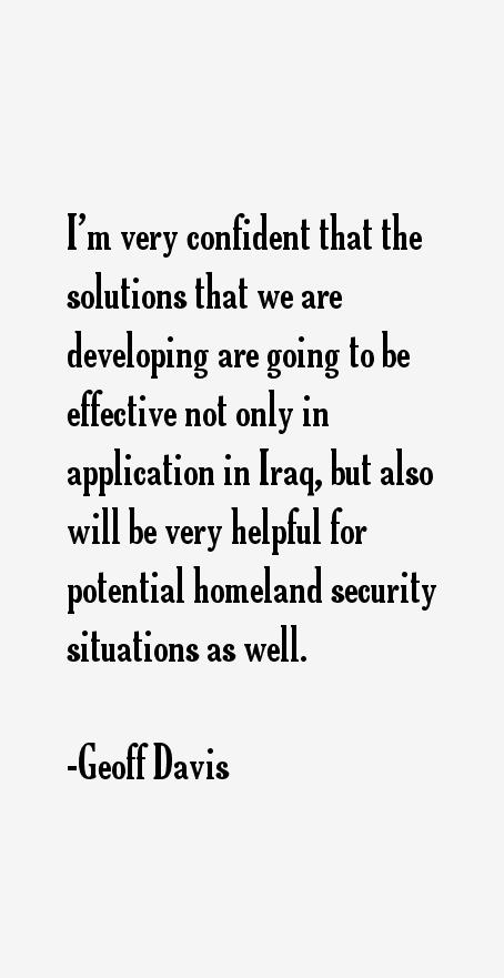 Geoff Davis Quotes