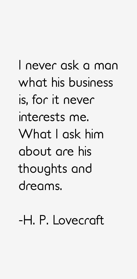 H. P. Lovecraft Quotes