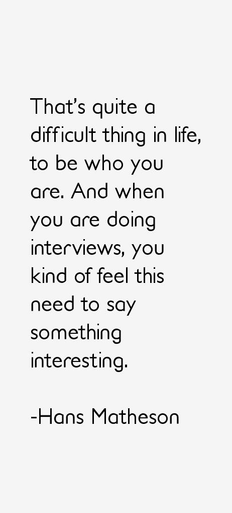 Hans Matheson Quotes