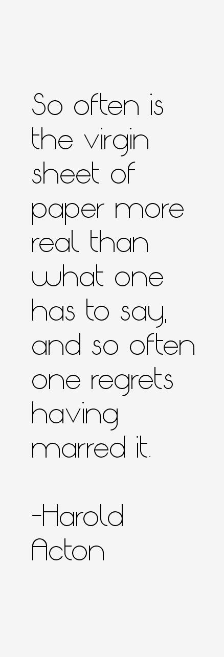 Harold Acton Quotes