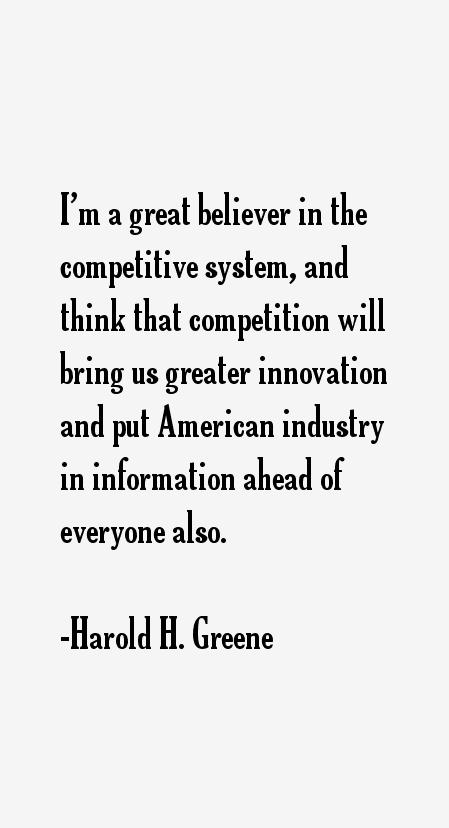 Harold H. Greene Quotes