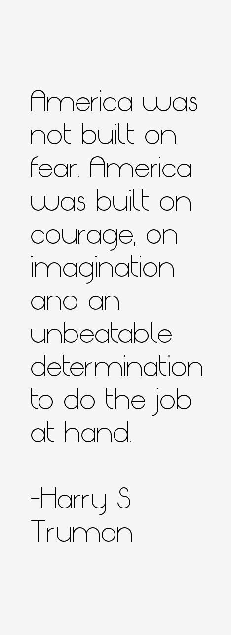Harry S Truman Quotes
