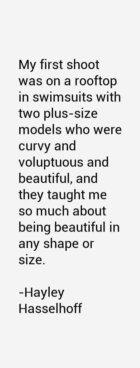 Hayley Hasselhoff Quotes