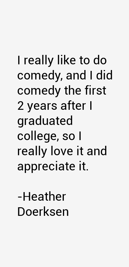 Heather Doerksen Quotes