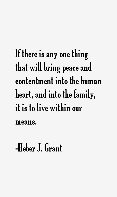 Heber J. Grant Quotes