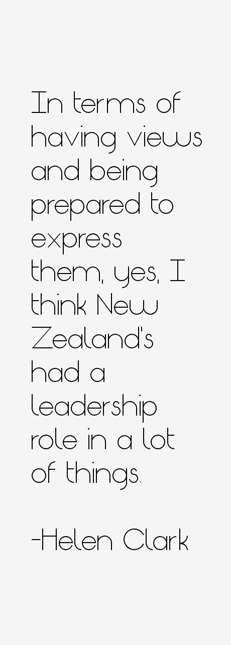Helen Clark Quotes