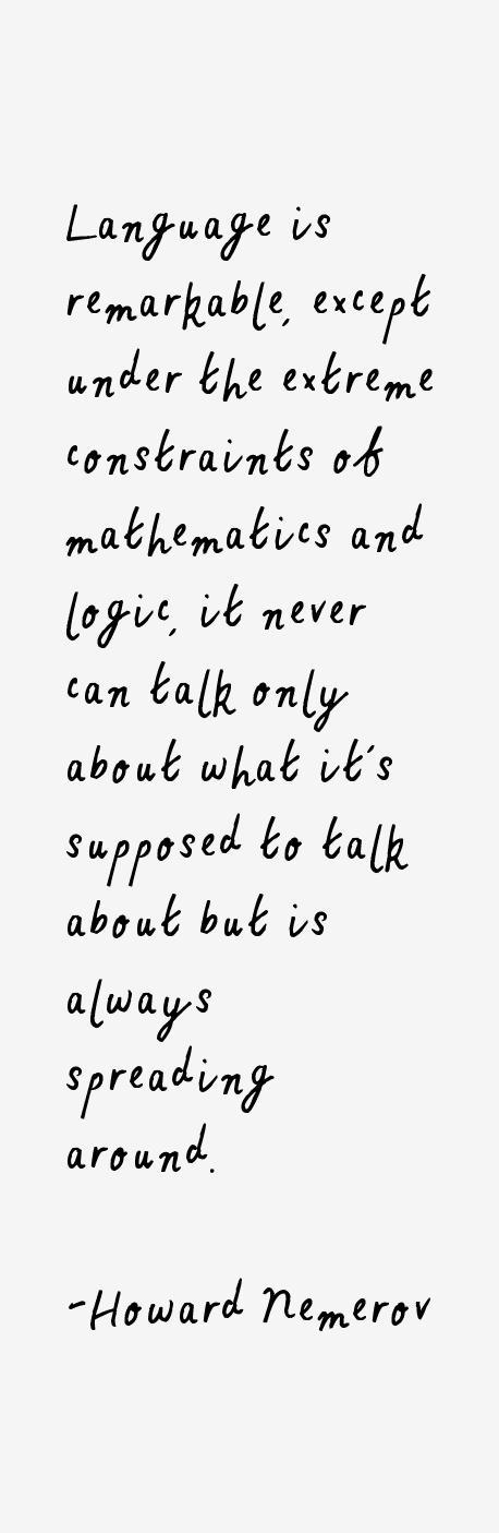 Howard Nemerov Quotes