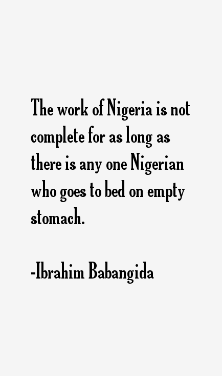 Ibrahim Babangida Quotes