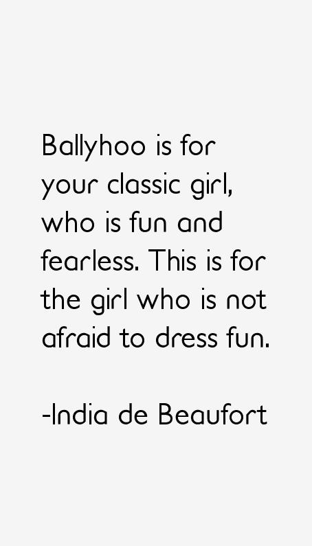 India de Beaufort Quotes