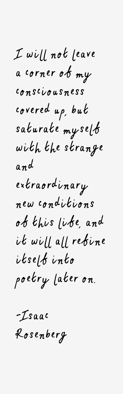 Isaac Rosenberg Quotes