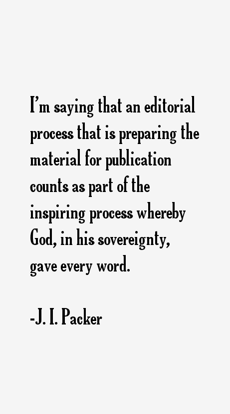 J. I. Packer Quotes