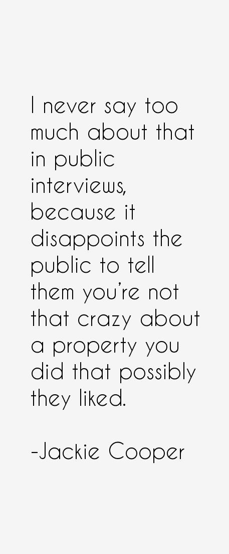 Jackie Cooper Quotes