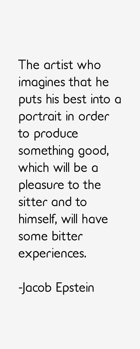 Jacob Epstein Quotes