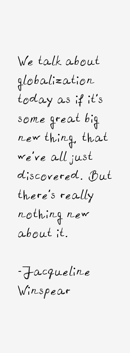 Jacqueline Winspear Quotes