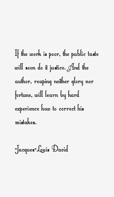 Jacques-Louis David Quotes