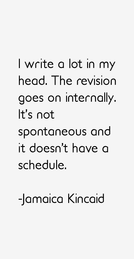 Jamaica Kincaid Quotes
