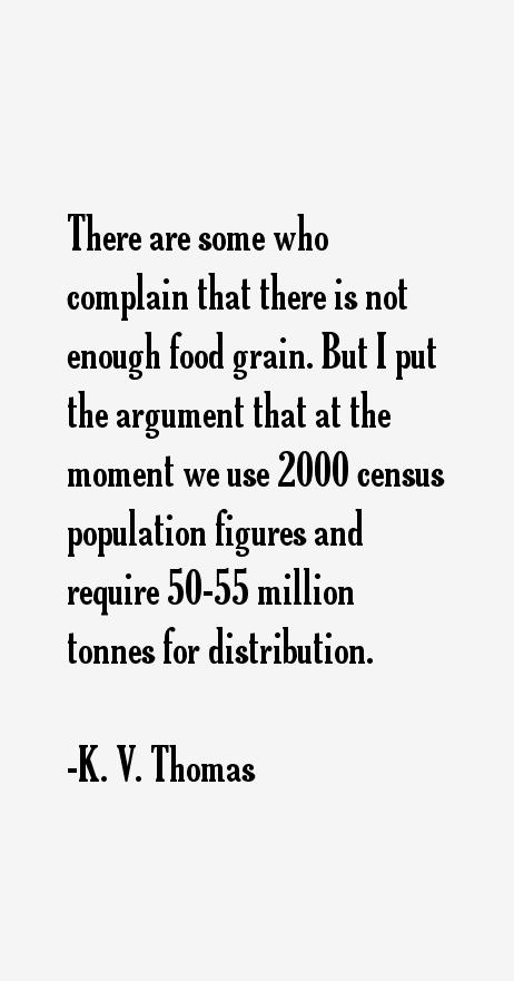 K. V. Thomas Quotes