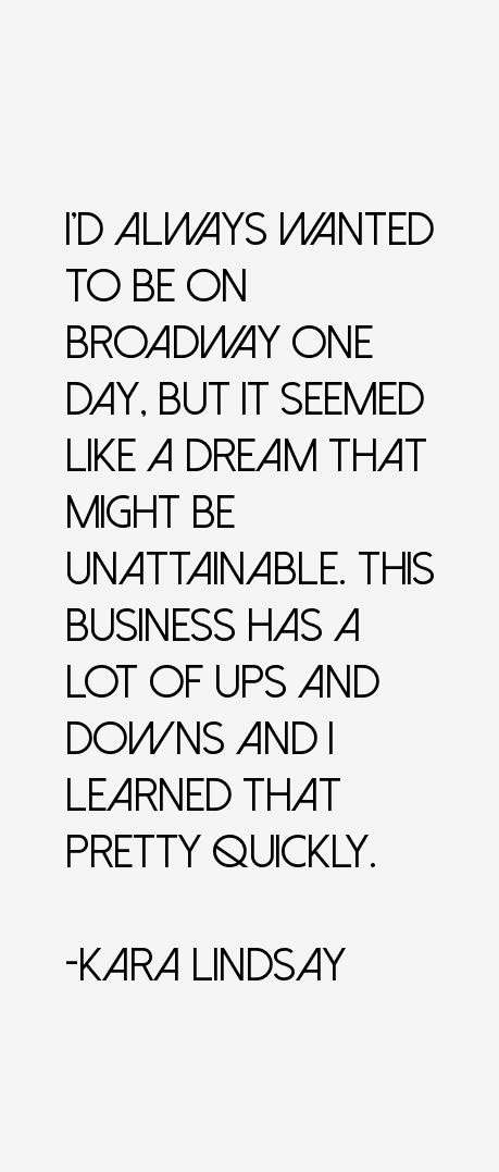 Kara Lindsay Quotes