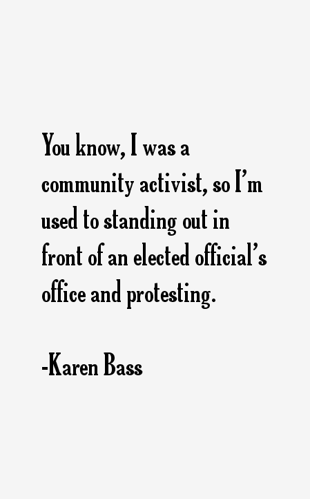 Karen Bass Quotes