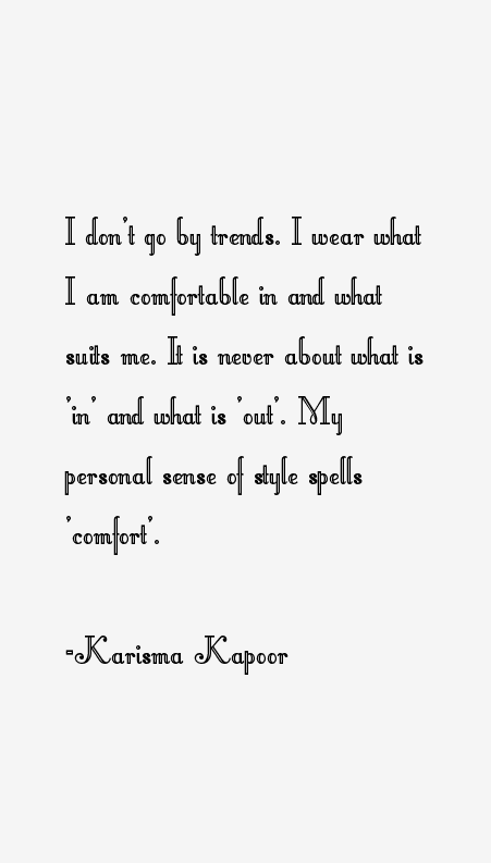Karisma Kapoor Quotes