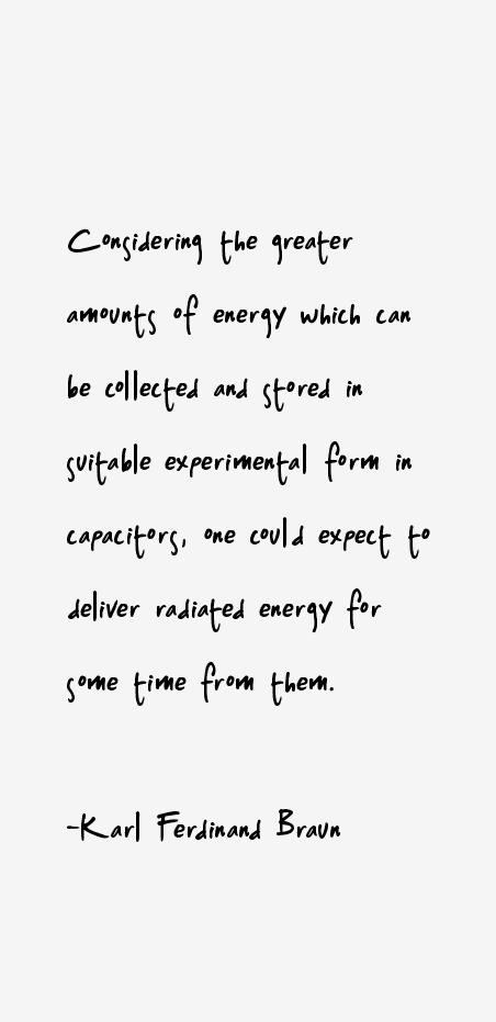 Karl Ferdinand Braun Quotes