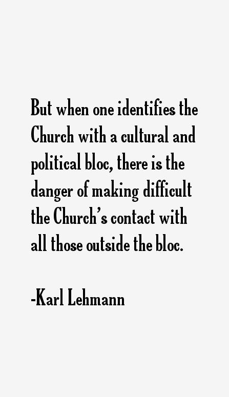 Karl Lehmann Quotes